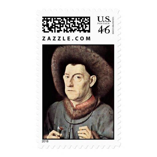Retrato de un hombre por Garofano de Eyck enero Va Franqueo