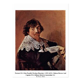 Retrato de un hombre posiblemente Nicolaes Tarjeta Postal