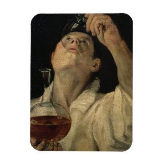 Retrato de un hombre que bebe, c.1581-4 (aceite en imanes