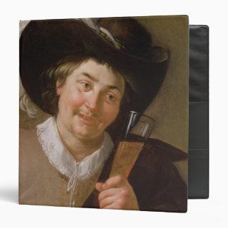 """Retrato de un hombre que sostiene una copa de vino carpeta 1 1/2"""""""