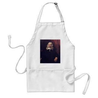 Retrato de un hombre rubio de Rembrandt Harmensz.  Delantales