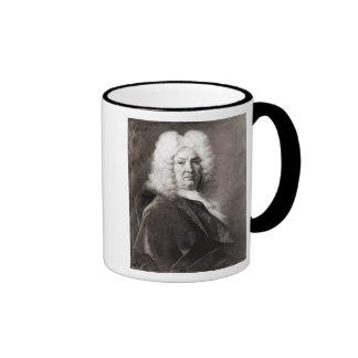 Retrato de un hombre taza de café