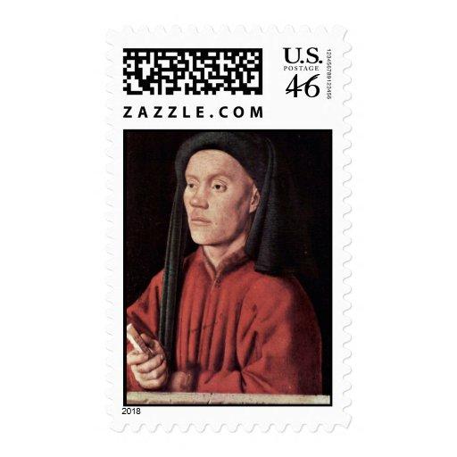 Retrato de un hombre (Timoteos) por Eyck enero Van Sellos