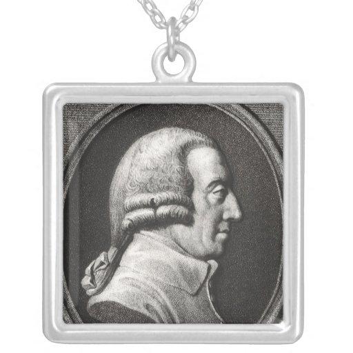 Retrato de un medallón de Adán Smith