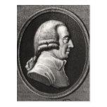 Retrato de un medallón de Adán Smith Postal