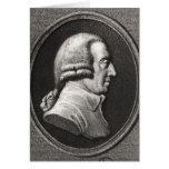 Retrato de un medallón de Adán Smith Tarjeton