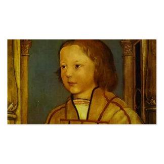 Retrato de un muchacho con el pelo rubio de Hans H Tarjetas De Visita