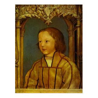 Retrato de un muchacho con el pelo rubio de Hans H Tarjeta Postal