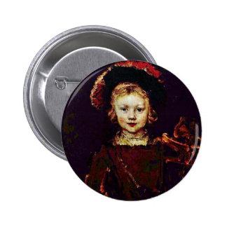 Retrato de un muchacho (hijo de Titus Rembrandt?) Pin