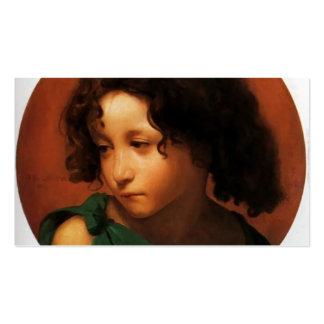 Retrato de un muchacho joven de Eugene de Blaas Tarjetas De Visita