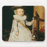 Retrato de un muchacho joven tapetes de raton