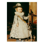 Retrato de un muchacho joven tarjeta postal