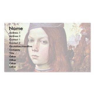 Retrato de un muchacho por Pinturicchio (la mejor  Tarjeta De Visita
