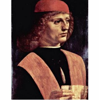 Retrato de un músico, por Leonardo da Vinci Fotoescultura Vertical