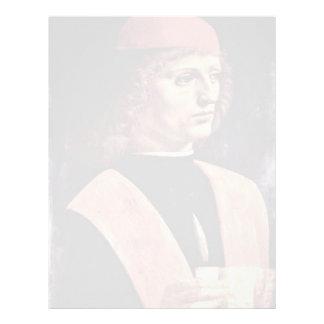 Retrato de un músico, por Leonardo da Vinci Plantillas De Membrete