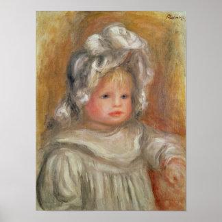 Retrato de un niño poster