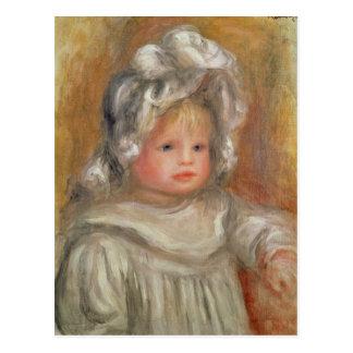 Retrato de un niño tarjeta postal