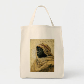 Retrato de un Nubian Bolsa Tela Para La Compra
