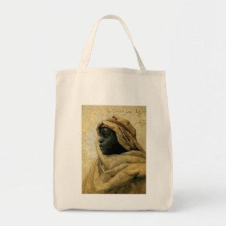 Retrato de un Nubian Bolsa Lienzo