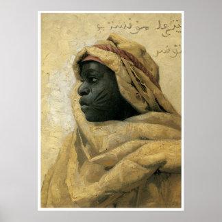 Retrato de un Nubian, Peder Monsted Posters