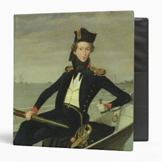 "Retrato de un oficial naval danés joven, 1841 carpeta 1 1/2"""