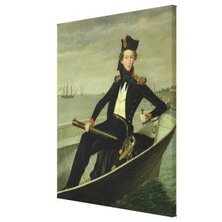 Retrato de un oficial naval danés joven, 1841 lona estirada galerias