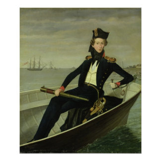 Retrato de un oficial naval danés joven, 1841 póster