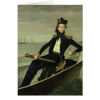 Retrato de un oficial naval danés joven, 1841 tarjeta de felicitación