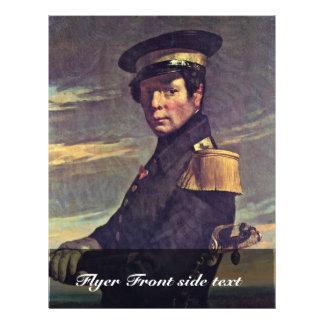 Retrato de un oficial naval por el mijo (el mejor  tarjetas informativas