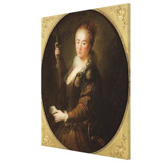 Retrato de un peregrino impresión en lona estirada