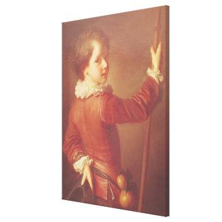 Retrato de un peregrino joven, 1725 impresión en lona