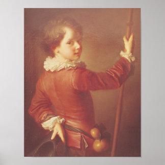 Retrato de un peregrino joven, 1725 póster