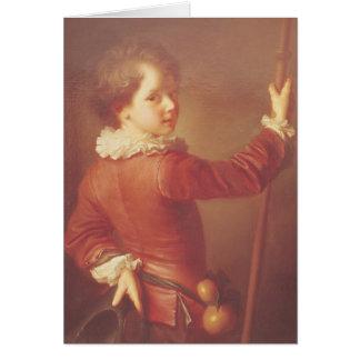 Retrato de un peregrino joven, 1725 tarjeta de felicitación