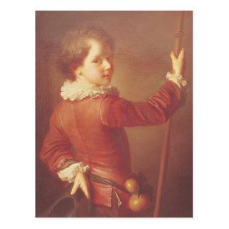 Retrato de un peregrino joven, 1725 tarjeta postal