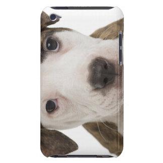Retrato de un perrito del pitbull barely there iPod carcasa