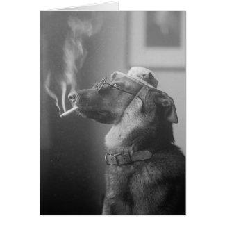 Retrato de un perro, 1923 tarjeta de felicitación