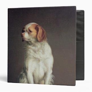 """Retrato de un perro de aguas de rey Charles Carpeta 1 1/2"""""""