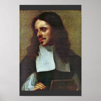 ¿Retrato de un pintor de la miniatura (Joaquín San Poster