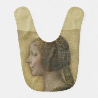 Retrato de un prometido joven de Leonardo da Vinci Babero De Bebé