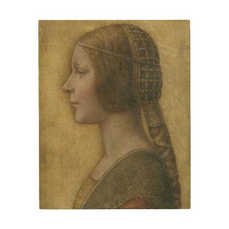 Retrato de un prometido joven de Leonardo da Vinci Decoración De Madera