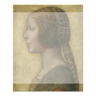 Retrato de un prometido joven de Leonardo da Vinci Tarjeton