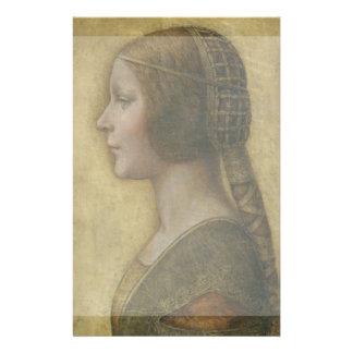 Retrato de un prometido joven de Leonardo da Vinci Tarjetas Informativas