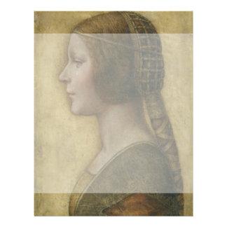 Retrato de un prometido joven de Leonardo da Vinci Tarjetas Publicitarias