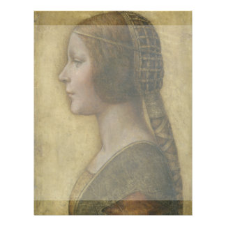 Retrato de un prometido joven de Leonardo da Vinci Tarjeta Publicitaria