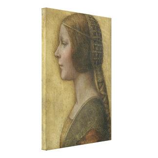 Retrato de un prometido joven de Leonardo da Vinci Impresión En Lienzo