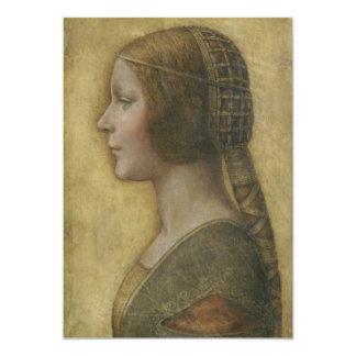 """Retrato de un prometido joven de Leonardo da Vinci Invitación 5"""" X 7"""""""