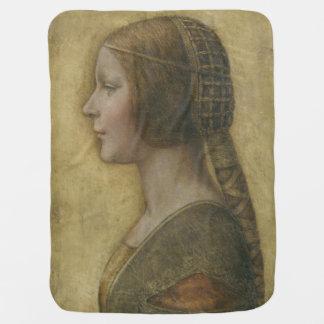Retrato de un prometido joven de Leonardo da Vinci Manta De Bebé