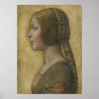Retrato de un prometido joven de Leonardo da Vinci Poster