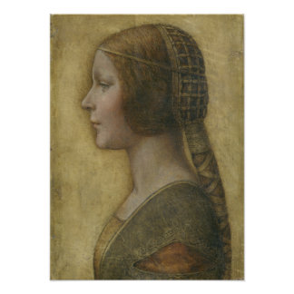Retrato de un prometido joven de Leonardo da Vinci Póster