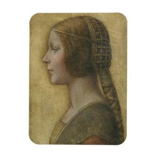Retrato de un prometido joven de Leonardo da Vinci Rectangle Magnet